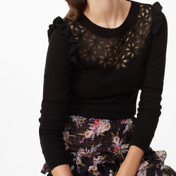 Rebecca Taylor Emilie Embroidered Pullover Small